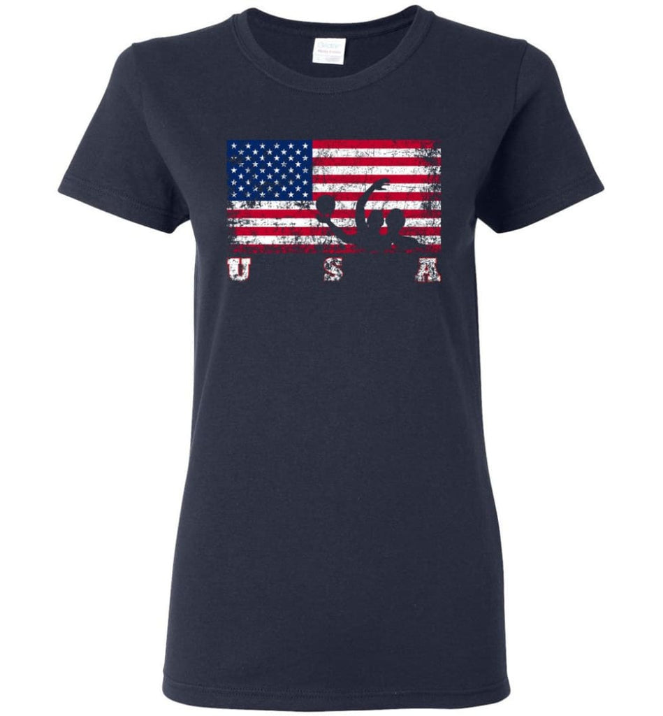 American Flag Water Polo Women Tee - Navy / M