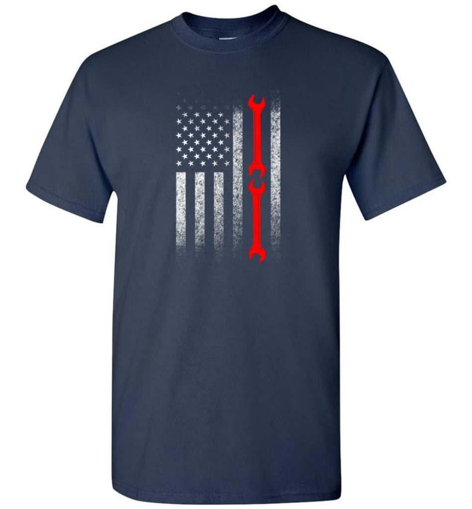 American Mechanic Flag Shirt - Short Sleeve T-Shirt - Navy / S