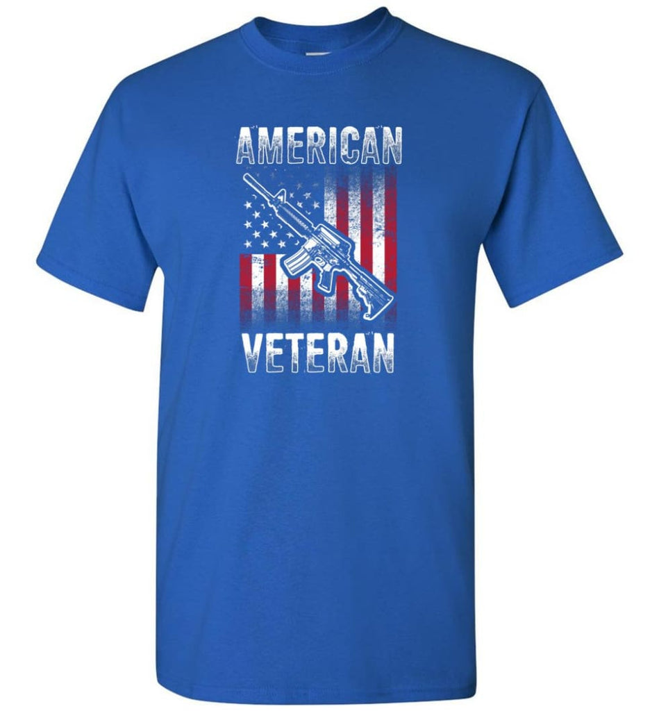 American Veteran Shirt - Short Sleeve T-Shirt - Royal / S