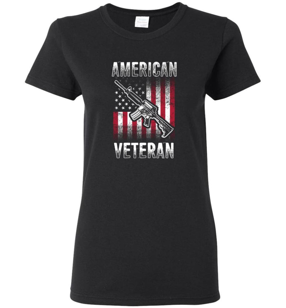 American Veteran Shirt Women Tee - Black / M