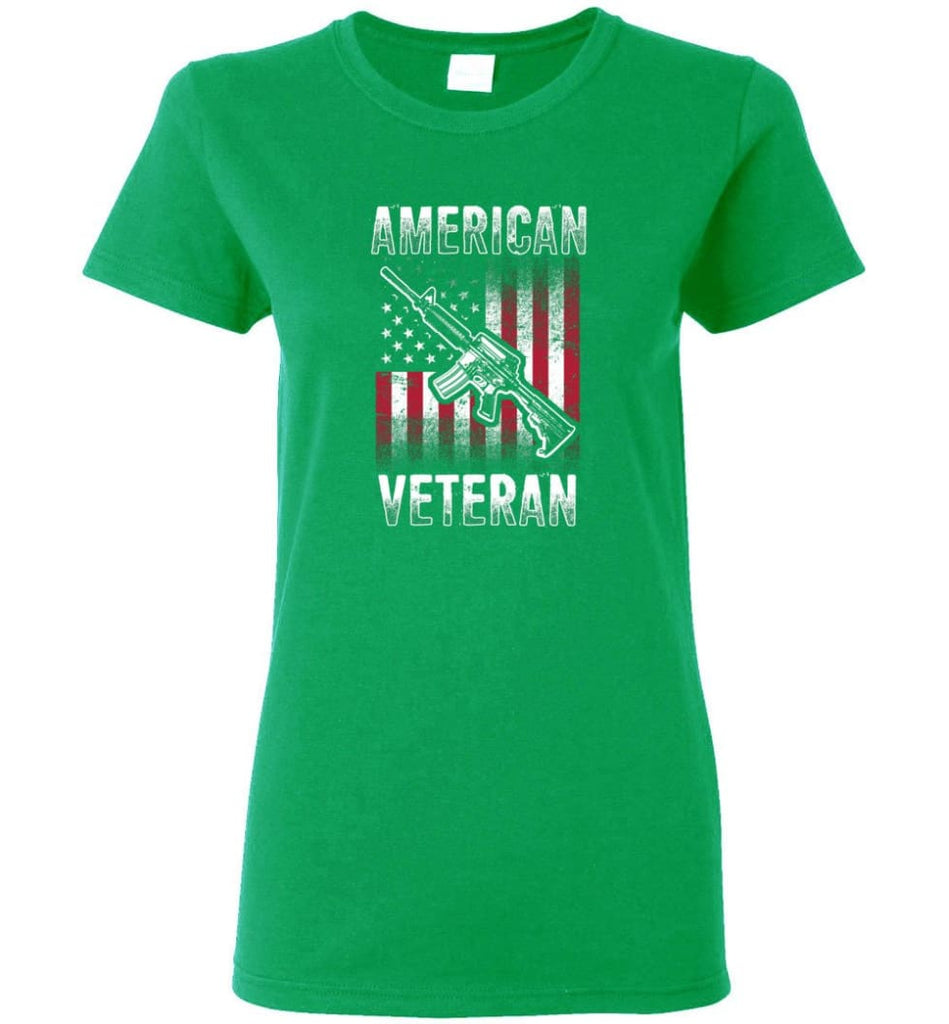 American Veteran Shirt Women Tee - Irish Green / M
