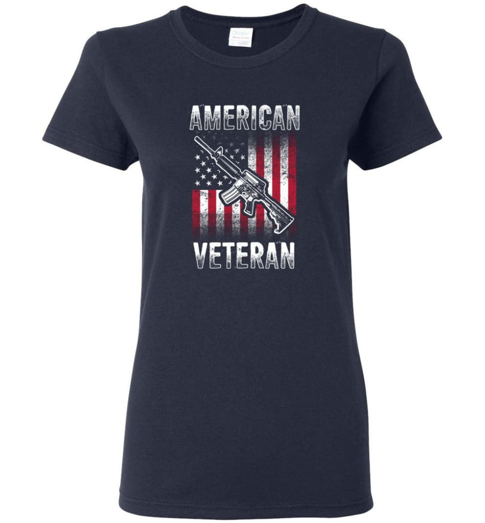 American Veteran Shirt Women Tee - Navy / M