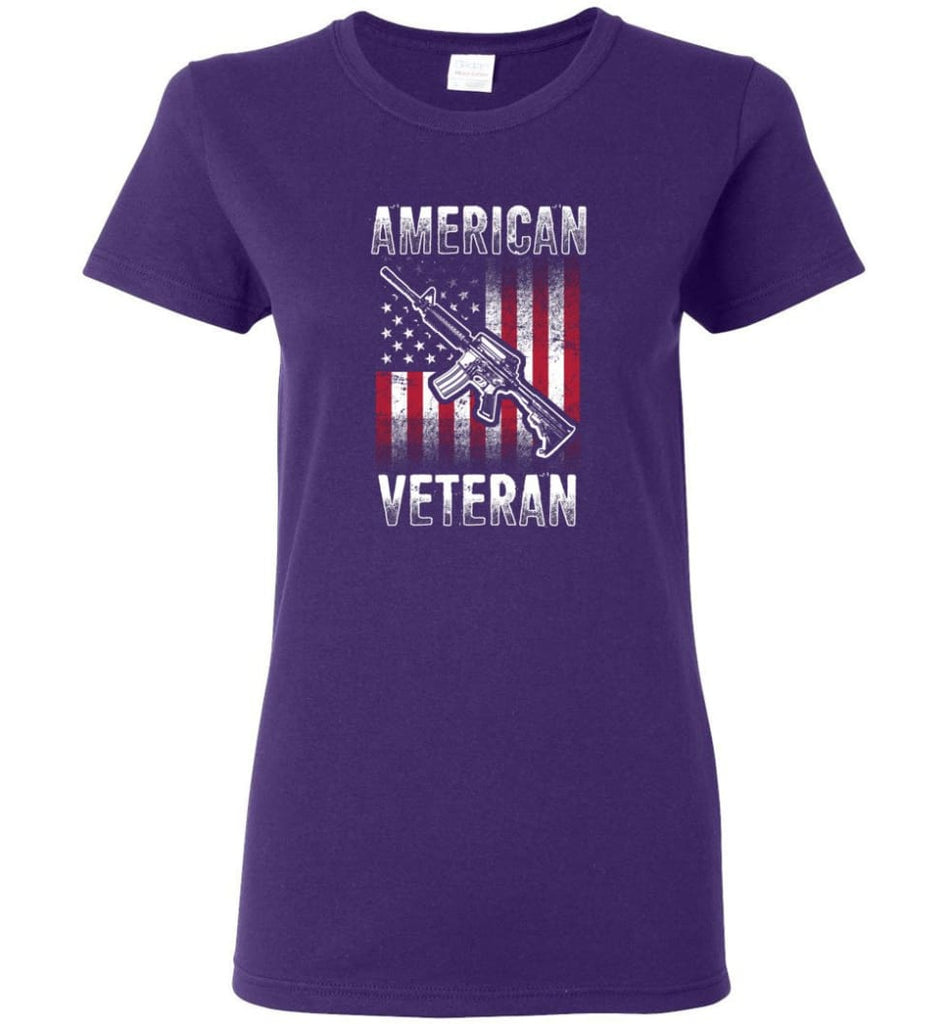 American Veteran Shirt Women Tee - Purple / M