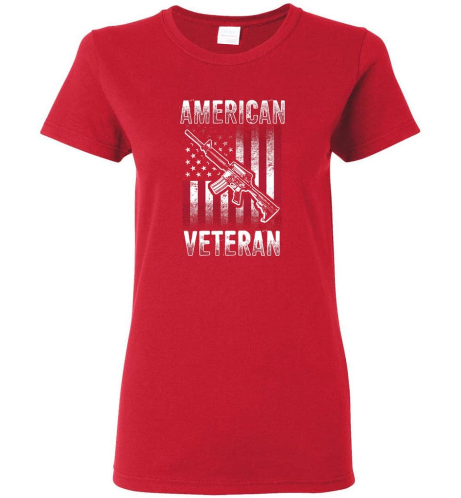 American Veteran Shirt Women Tee - Red / M
