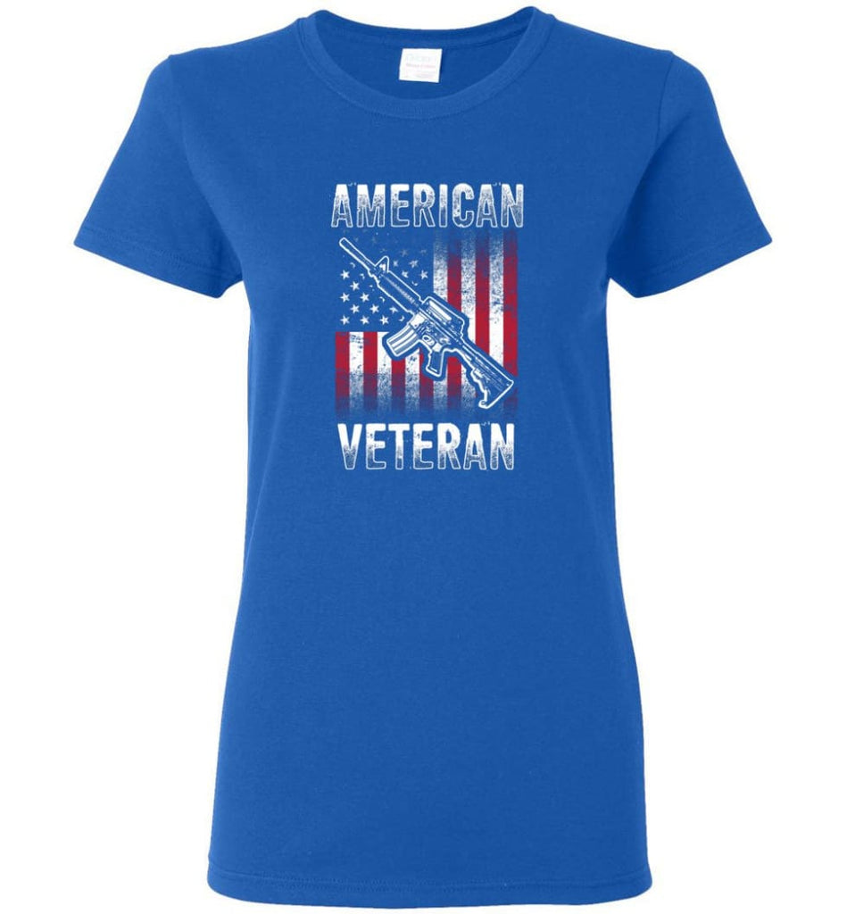 American Veteran Shirt Women Tee - Royal / M