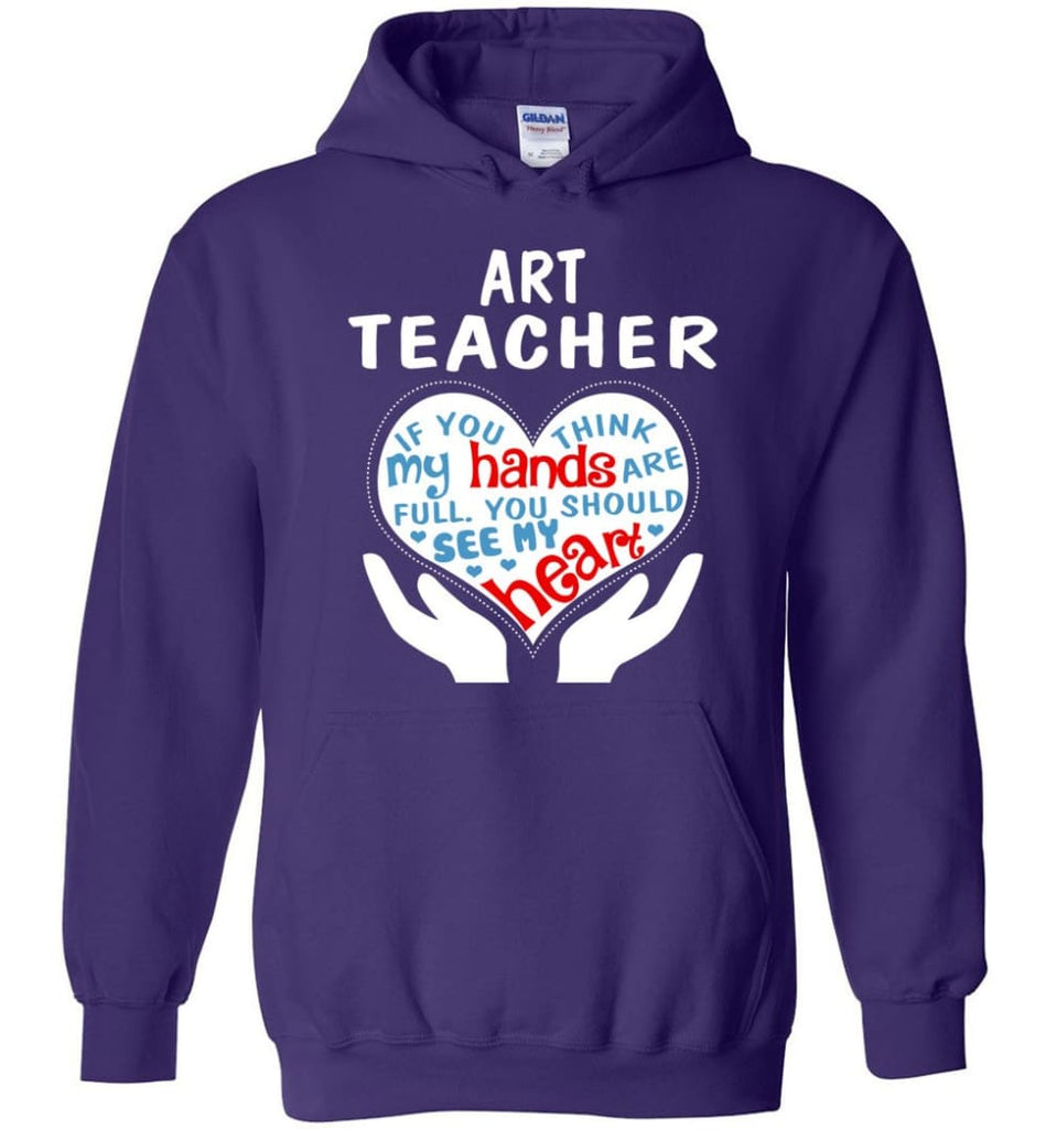 Art Teacher Shirt Art Teacher Gift - Hoodie - Purple / M