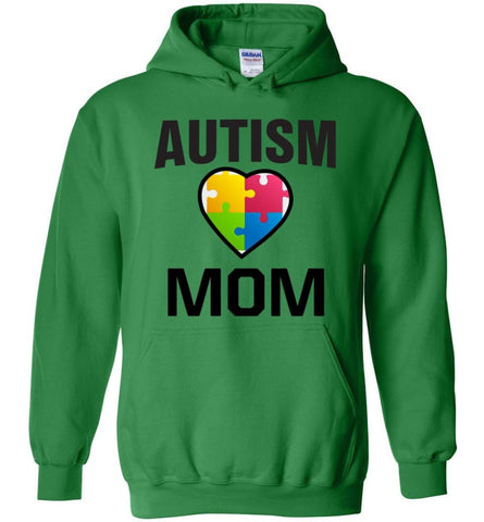 Autism Awareness Shirt Proud Autism Mom Mother Mommy - Hoodie - Irish Green / M