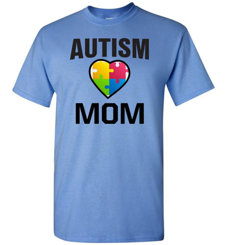 Autism Awareness Shirt Proud Autism Mom Mother Mommy - Short Sleeve T-Shirt - Purple / S