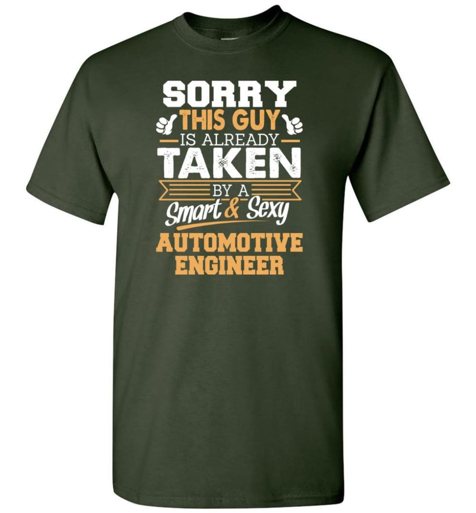 Automotive Engineer Shirt Cool Gift for Boyfriend Husband or Lover - Short Sleeve T-Shirt - Forest Green / S
