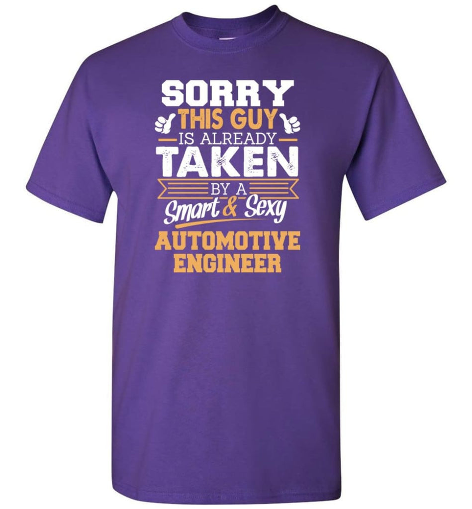 Automotive Engineer Shirt Cool Gift for Boyfriend Husband or Lover - Short Sleeve T-Shirt - Purple / S