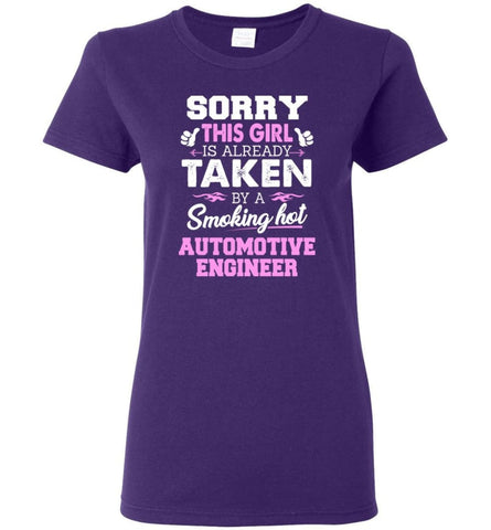 Automotive Engineer Shirt Cool Gift for Girlfriend Wife or Lover Women Tee - Purple / M - 11