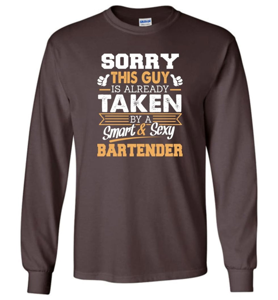 Bartender Shirt Cool Gift For Boyfriend Husband Long Sleeve - Dark Chocolate / M