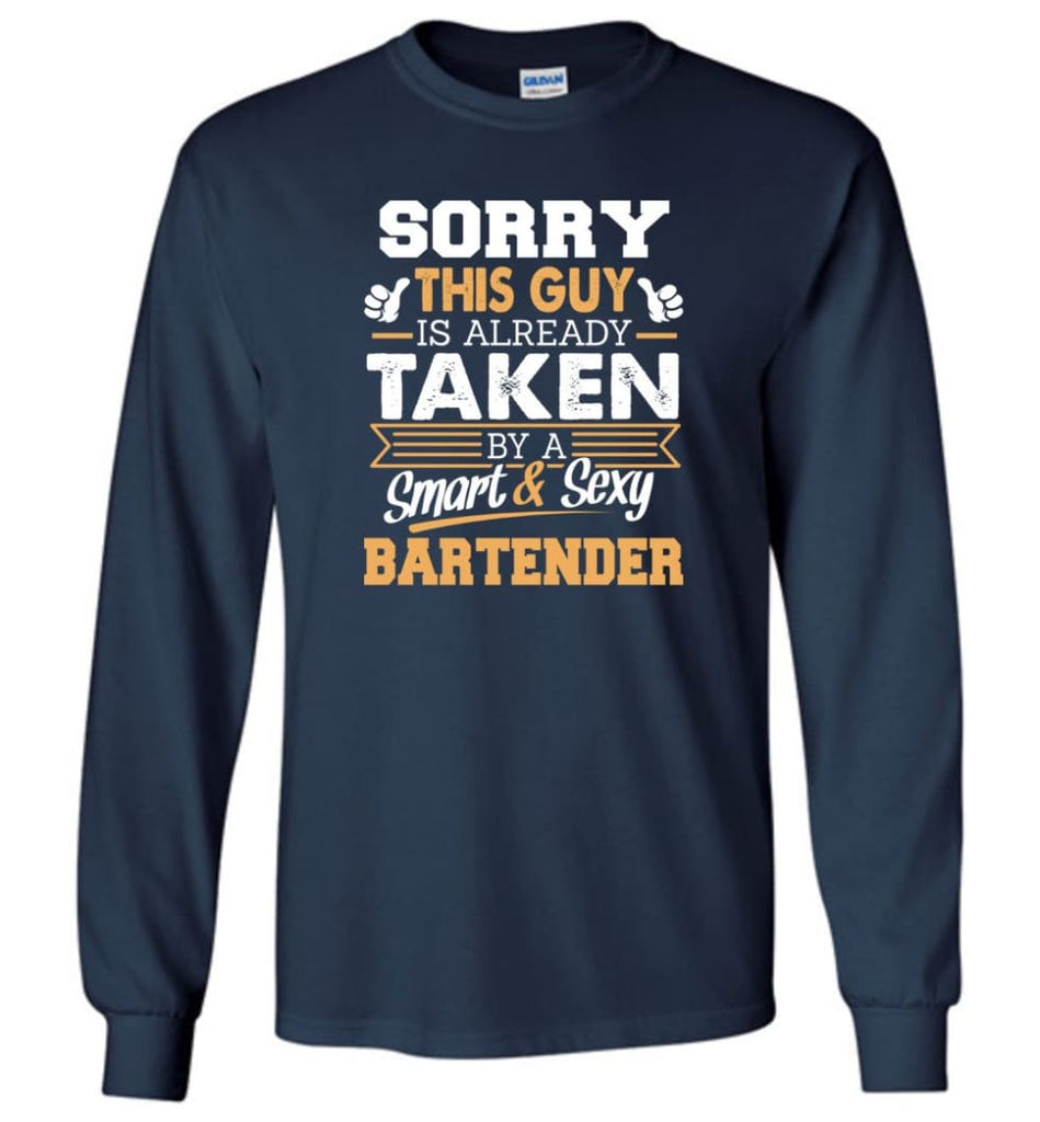 Bartender Shirt Cool Gift For Boyfriend Husband Long Sleeve - Navy / M
