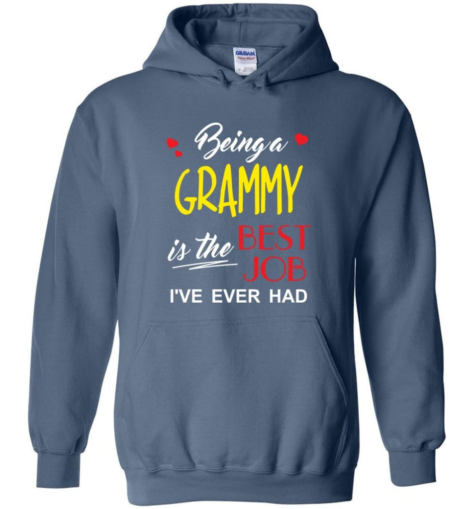 Being A G Is The Best Job Gift For Grandparents Hoodie - Indigo Blue / M