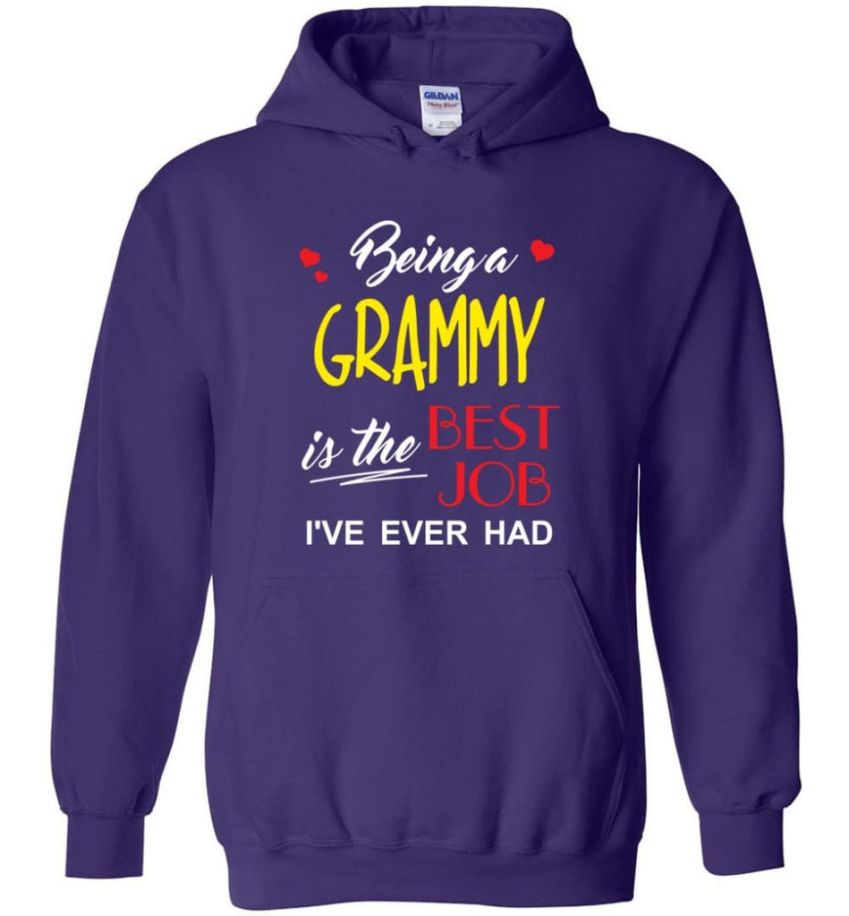 Being A G Is The Best Job Gift For Grandparents Hoodie - Purple / M