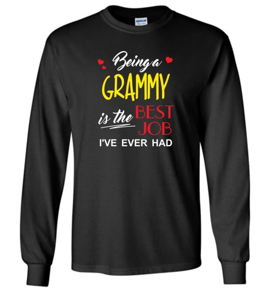Being A G Is The Best Job Gift For Grandparents Long Sleeve T-Shirt - Black / M