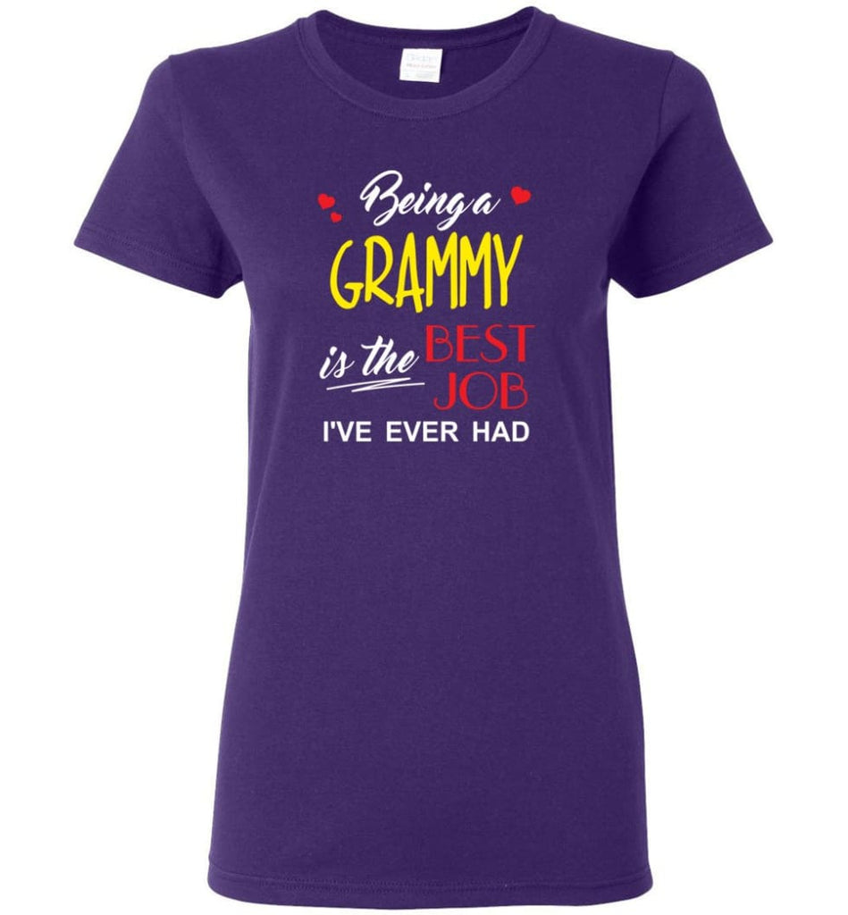 Being A G Is The Best Job Gift For Grandparents Women Tee - Purple / M