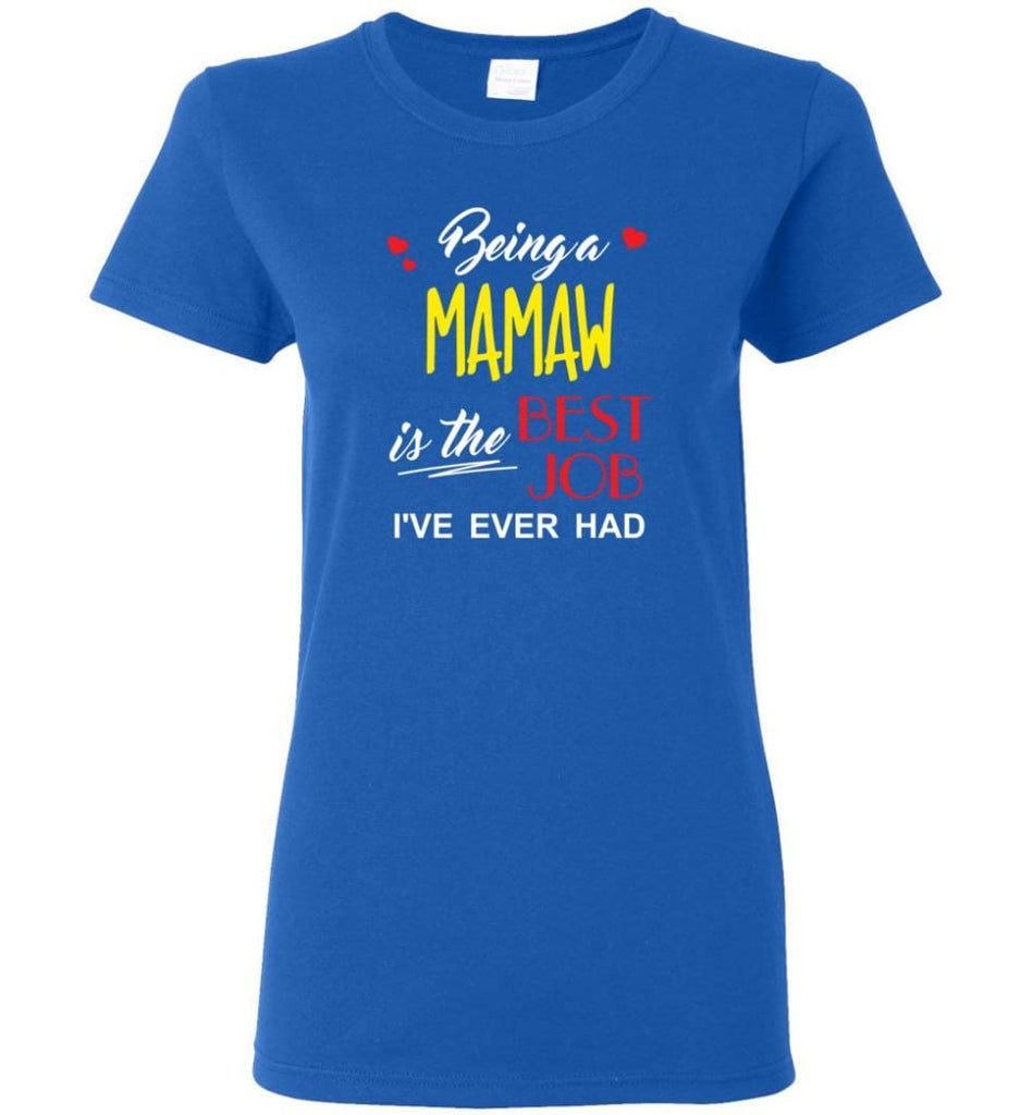 Being A Mamaw Is The Best Job Gift For Grandparents Women Tee - Royal / M
