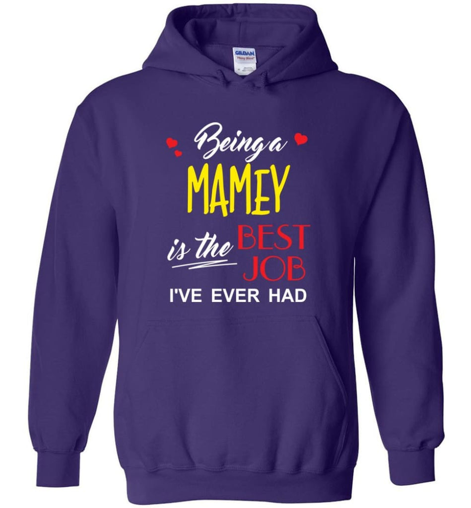 Being A Mamey Is The Best Job Gift For Grandparents Hoodie - Purple / M