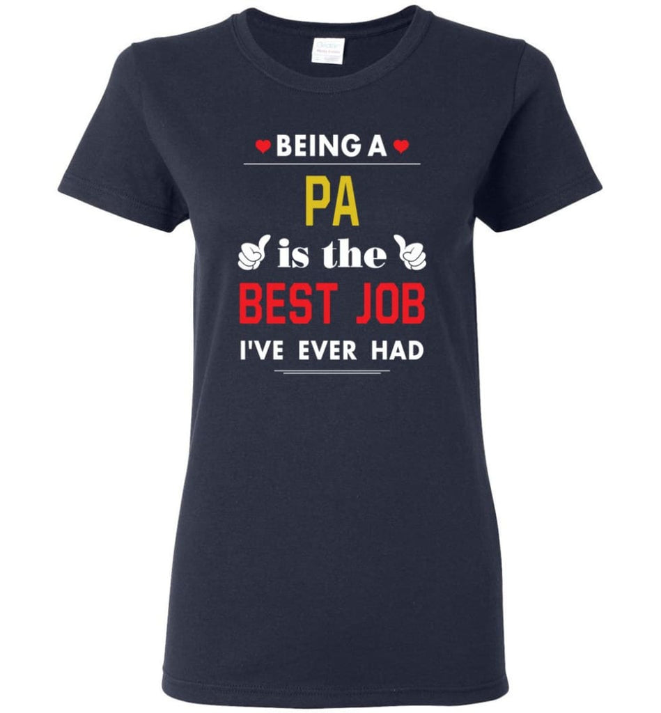 Being A Pa Is The Best Job Gift For Grandparents Women Tee - Navy / M