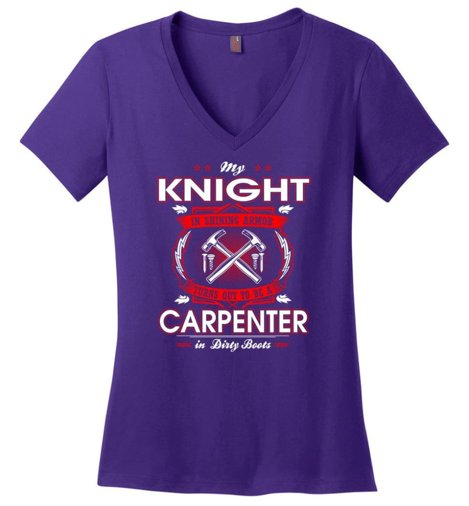 Being A Project Mannager Is Easy Ladies V-Neck - Purple / M