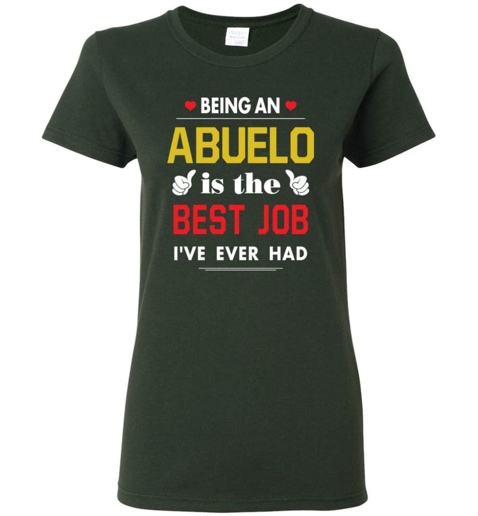 Being An Abuelo Is The Best Job Gift For Grandparents Women Tee - Forest Green / M