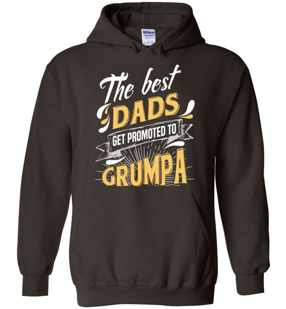 Best Dads Get Promoted To Grumpa Christmas Gift for Grandpa Hoodie - Dark Chocolate / M