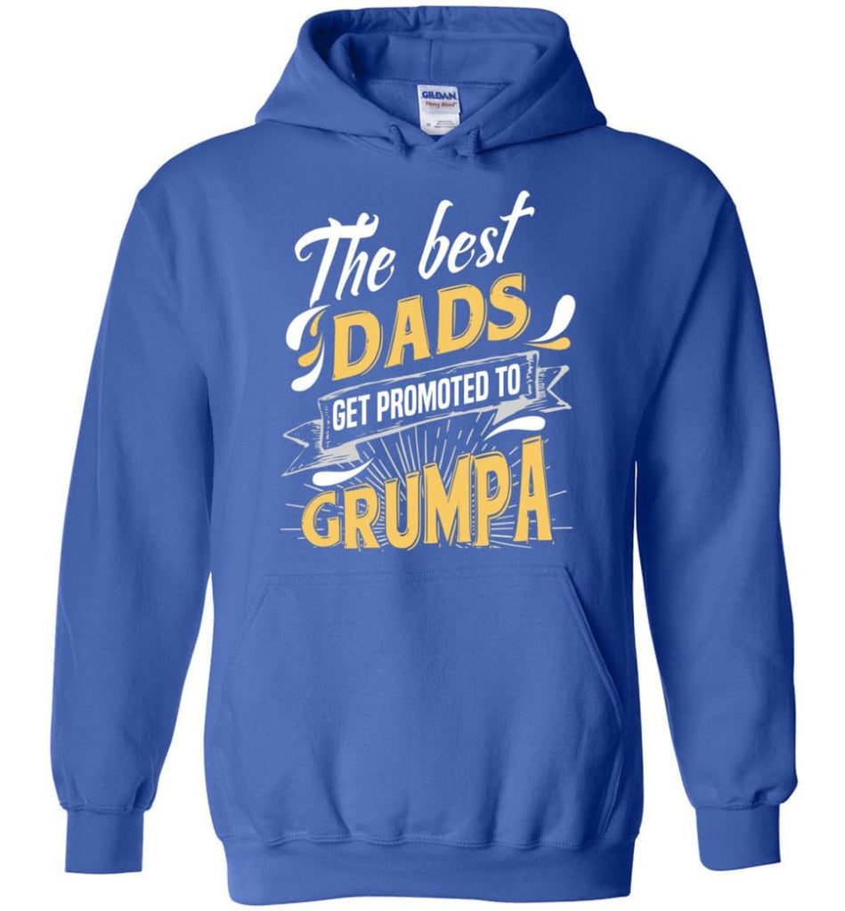 Best Dads Get Promoted To Grumpa Christmas Gift for Grandpa Hoodie - Royal Blue / M