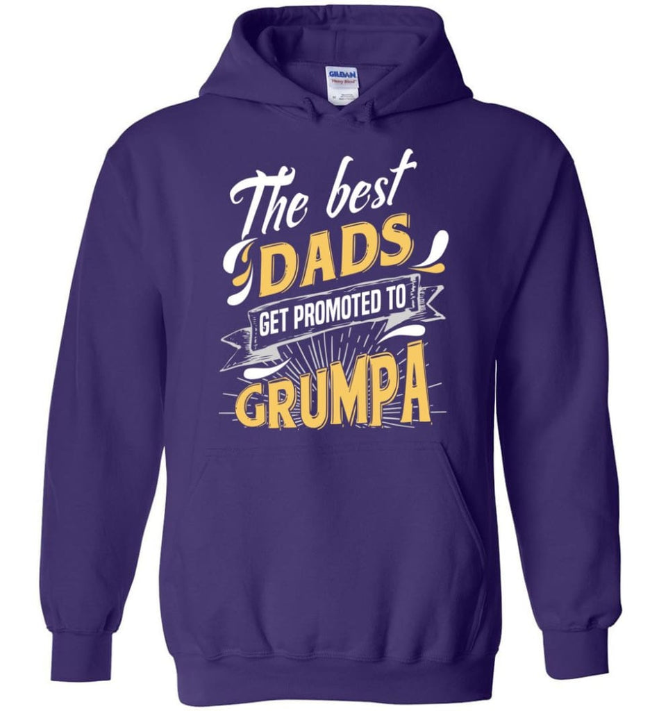 Best Dads Get Promoted To Grumpa Christmas Gift for Grandpa Hoodie - Purple / M