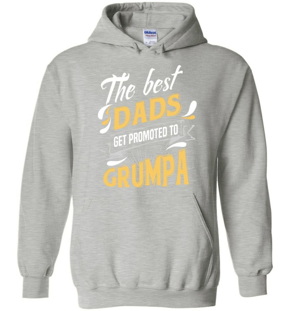 Best Dads Get Promoted To Grumpa Christmas Gift for Grandpa Hoodie - Sports Grey / M