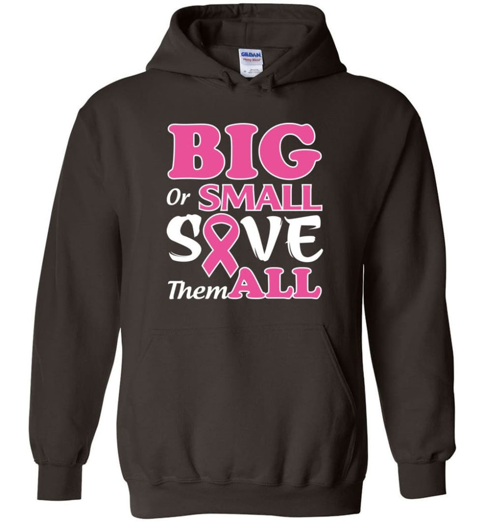 Big Or Small Save Them All Hoodie - Dark Chocolate / M