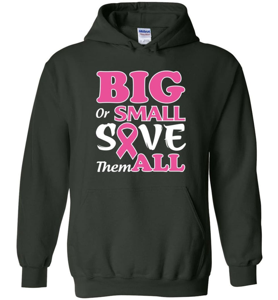 Big Or Small Save Them All Hoodie - Forest Green / M