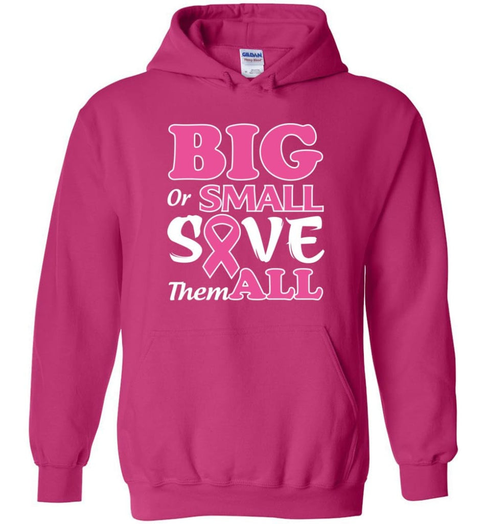 Big Or Small Save Them All Hoodie - Heliconia / M