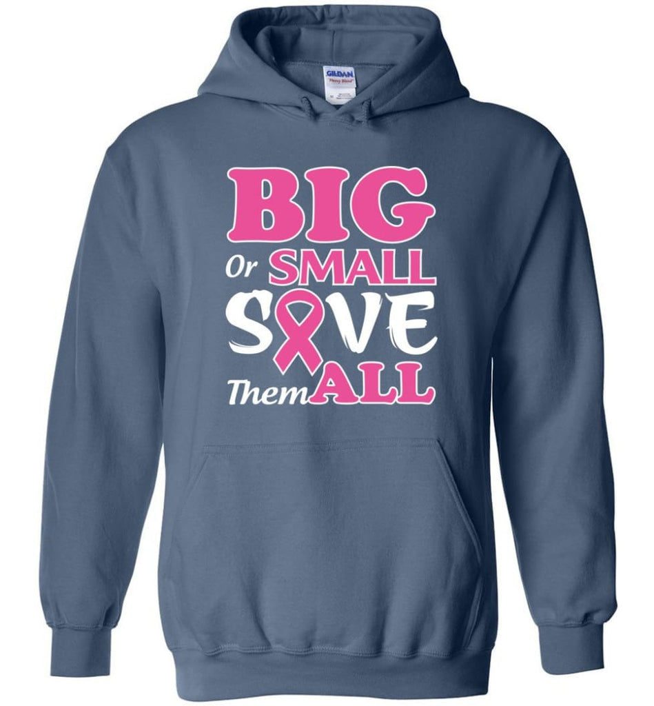 Big Or Small Save Them All Hoodie - Indigo Blue / M