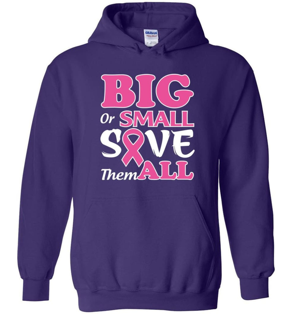 Big Or Small Save Them All Hoodie - Purple / M