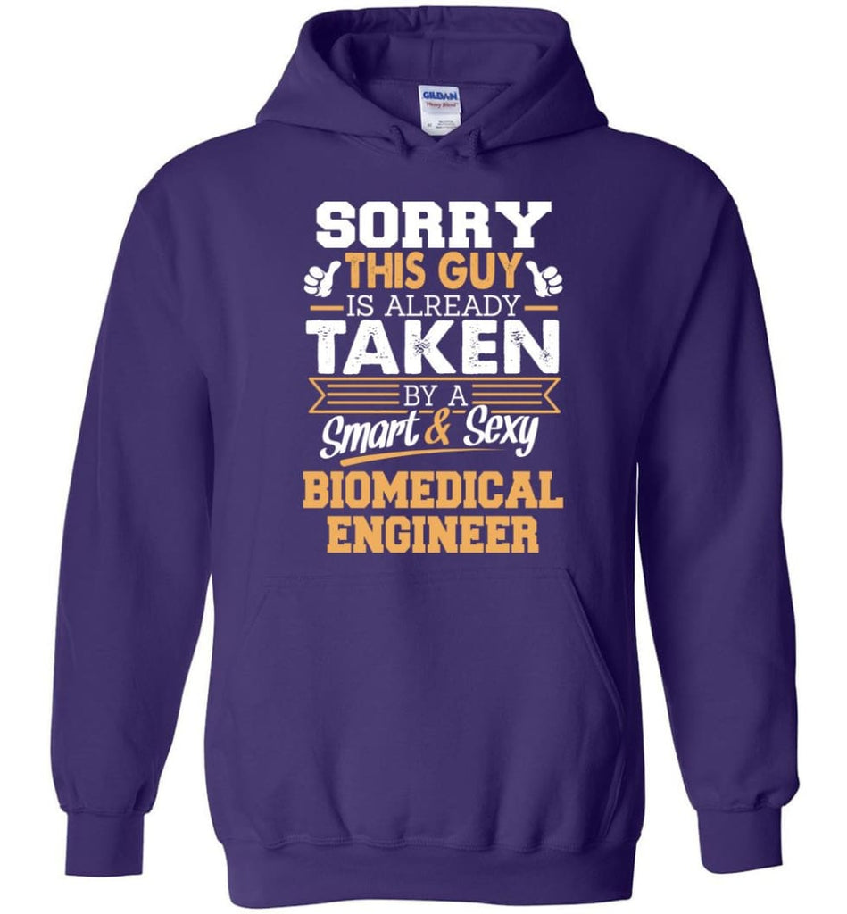 Biomedical Engineer Shirt Cool Gift for Boyfriend Husband or Lover - Hoodie - Purple / M