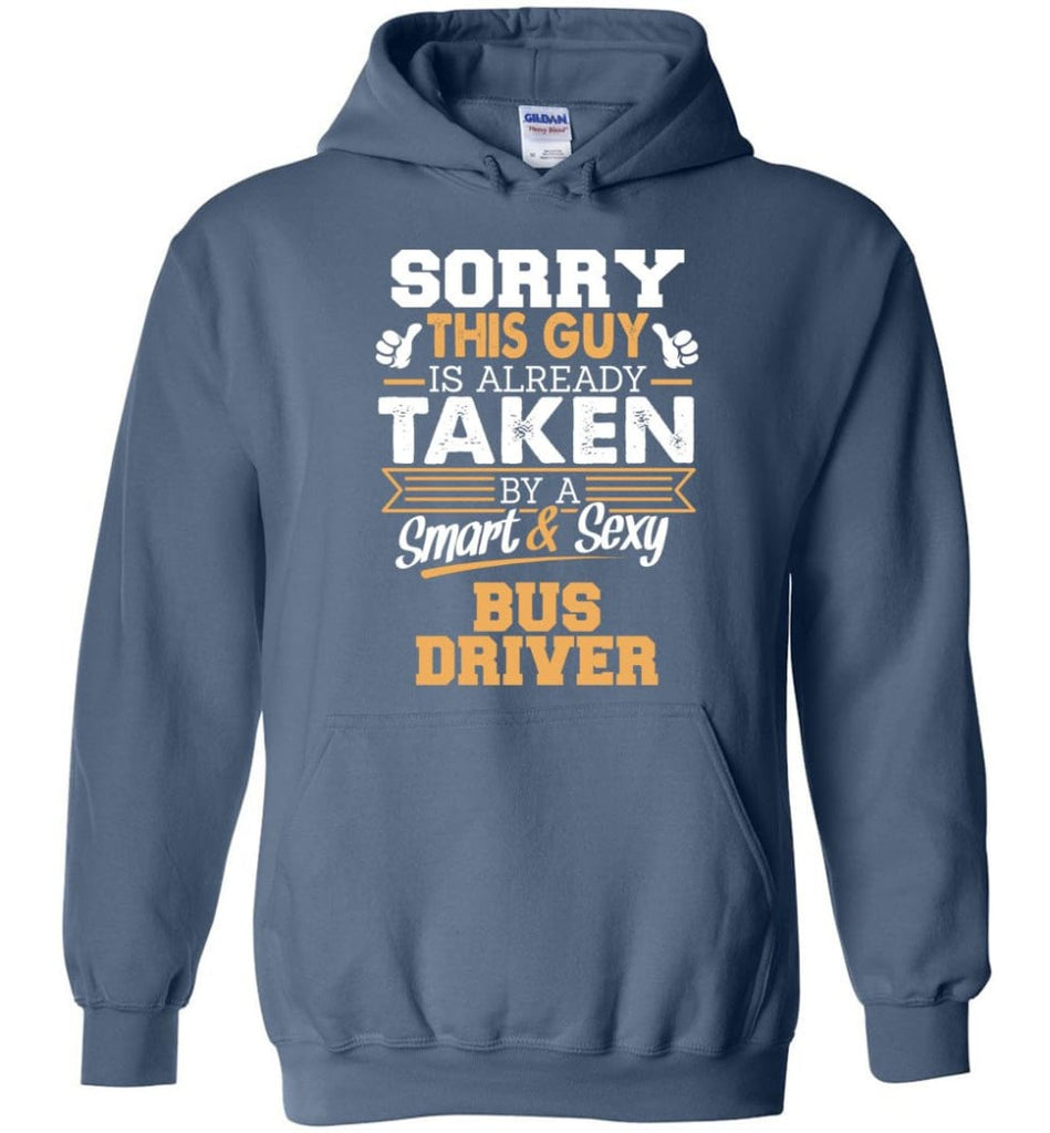 Bus Driver Shirt Cool Gift for Boyfriend Husband or Lover - Hoodie - Indigo Blue / M