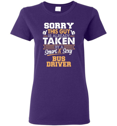 Bus Driver Shirt Cool Gift for Boyfriend Husband or Lover Women Tee - Purple / M - 4