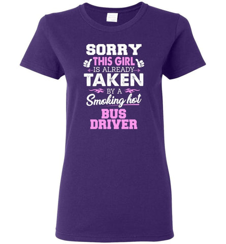 Bus Driver Shirt Cool Gift for Girlfriend Wife or Lover Women Tee - Purple / M - 4
