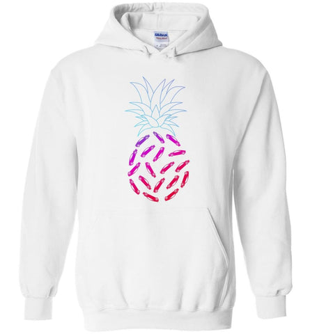 Car Pineapple Funny Graphic - Hoodie - White / M - Hoodie