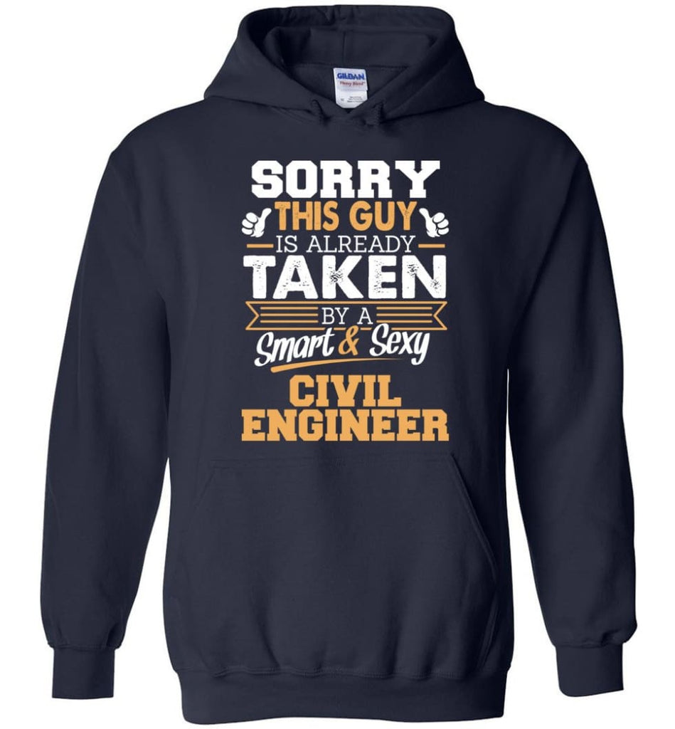 Civil Engineer Shirt Cool Gift for Boyfriend Husband or Lover - Hoodie - Navy / M
