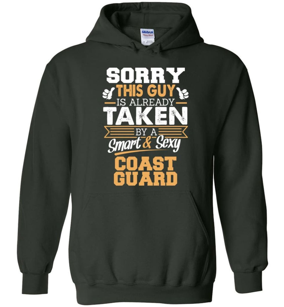 Coast Guard Shirt Cool Gift for Boyfriend Husband or Lover - Hoodie - Forest Green / M