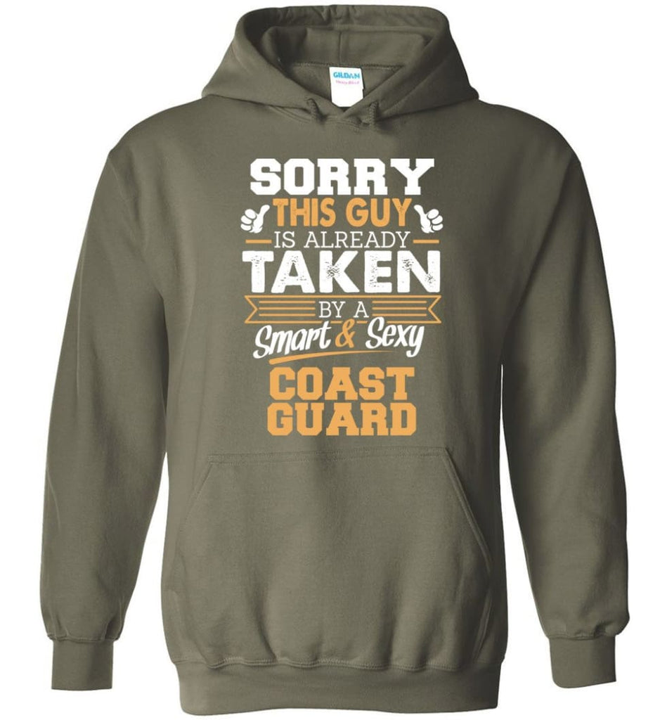 Coast Guard Shirt Cool Gift for Boyfriend Husband or Lover - Hoodie - Military Green / M
