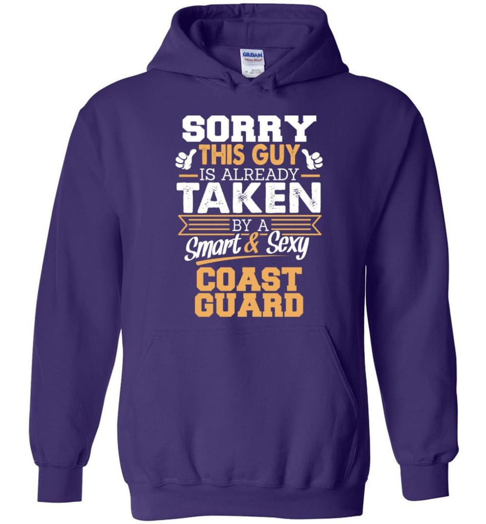 Coast Guard Shirt Cool Gift for Boyfriend Husband or Lover - Hoodie - Purple / M