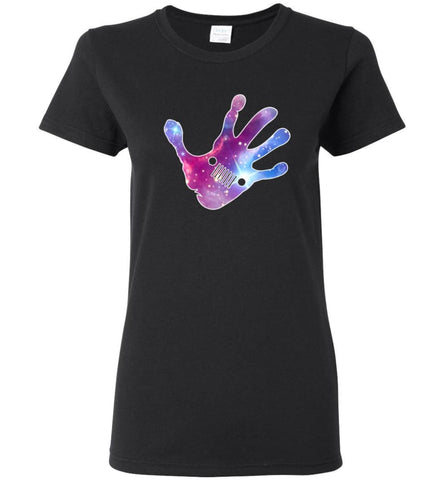 Colorful Water Color Hand Jeep Wave - Women Tee - Black / M - Women Tee