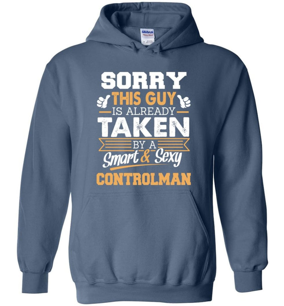 Controlman Shirt Cool Gift For Boyfriend Husband Hoodie - Indigo Blue / M