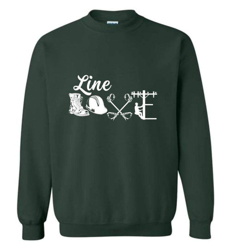 Cool Lineman Shirts Best Lineman Gift Lineman Long Sleeve Shirts Sweatshirt - Forest Green / M