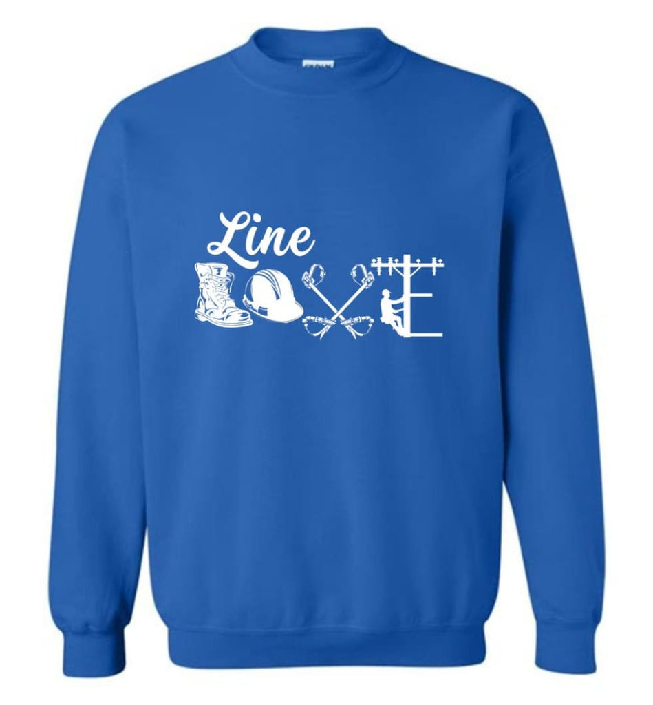 Cool Lineman Shirts Best Lineman Gift Lineman Long Sleeve Shirts Sweatshirt - Royal / M