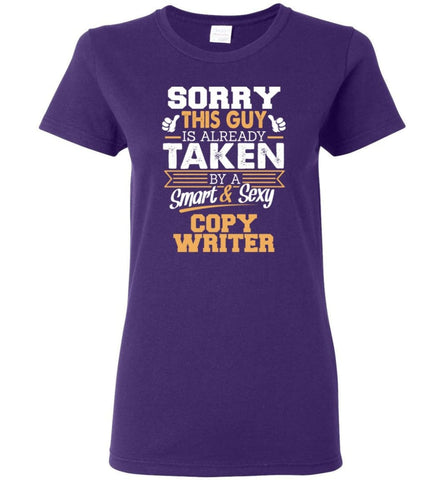 Copy Writer Shirt Cool Gift for Boyfriend Husband or Lover Women Tee - Purple / M - 5