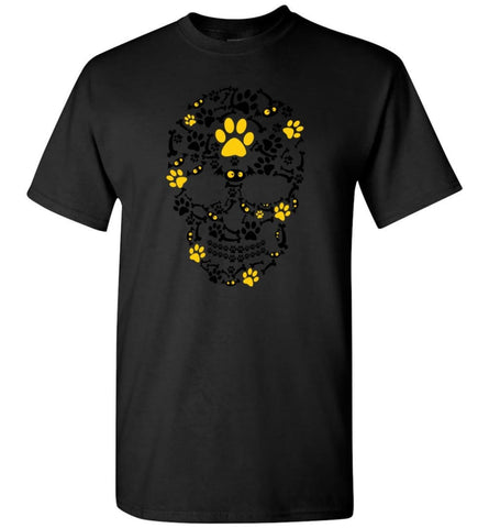 Crazy Cool Pumpkin Dog Paw Face Scary Halloween Skull - T-Shirt - Black / S - T-Shirt